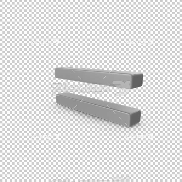 تصویر سه بعدی دوربری علامت مساوی