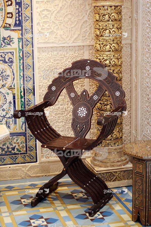 عکس صندلی با طرح اسلامی