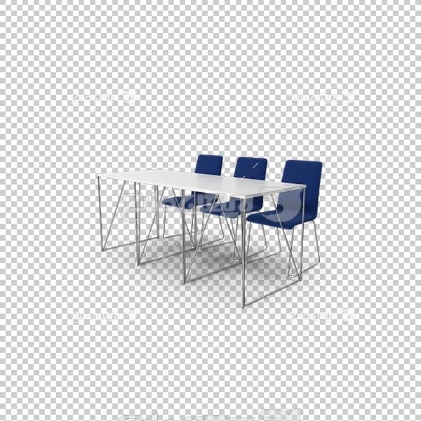 تصویر سه بعدی دوربری میز و صندلی