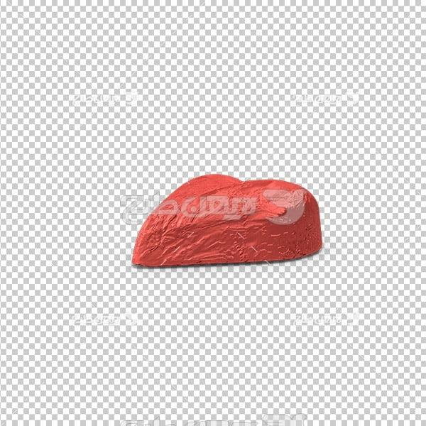 تصویر دوربری سه بعدی شکلات