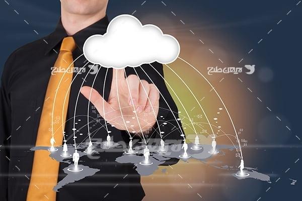 عکس فضای ابری و تکنولوژی