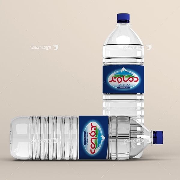 طرح موکاپ بطری آب معدنی