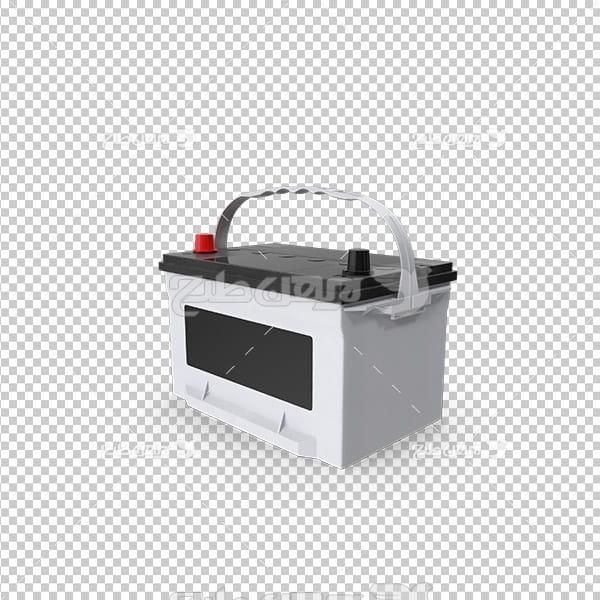 تصویر دوربری سه بعدی باطری ماشین