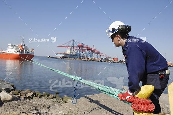 عکس پهلوگیری کشتی