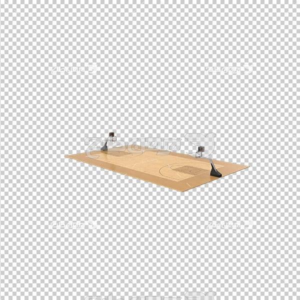 تصویر دوربری سه بعدی زمین بسکتبال
