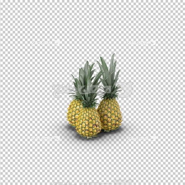 تصویر دوربری سه بعدی آناناس