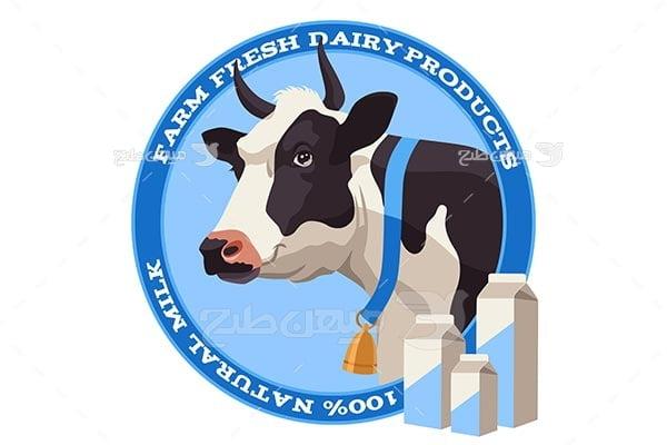 وکتور گاو و شیر