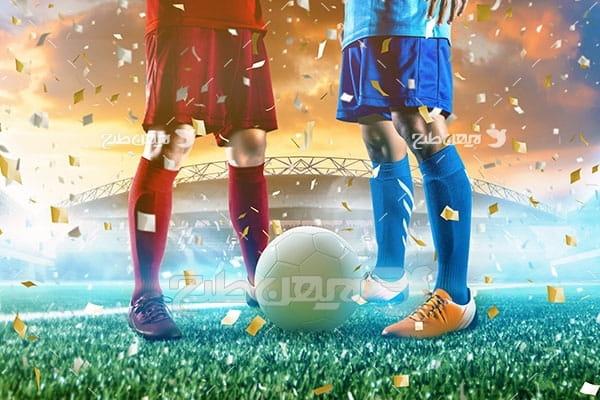 تصویر شروع بازی فوتبال