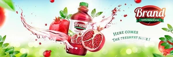 وکتور بطری آب میوه انار