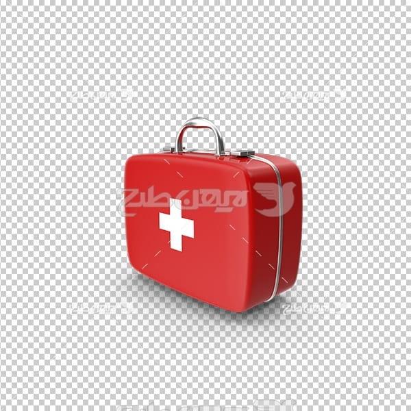 تصویر دوربری سه بعدی کیف کمک های اولیه