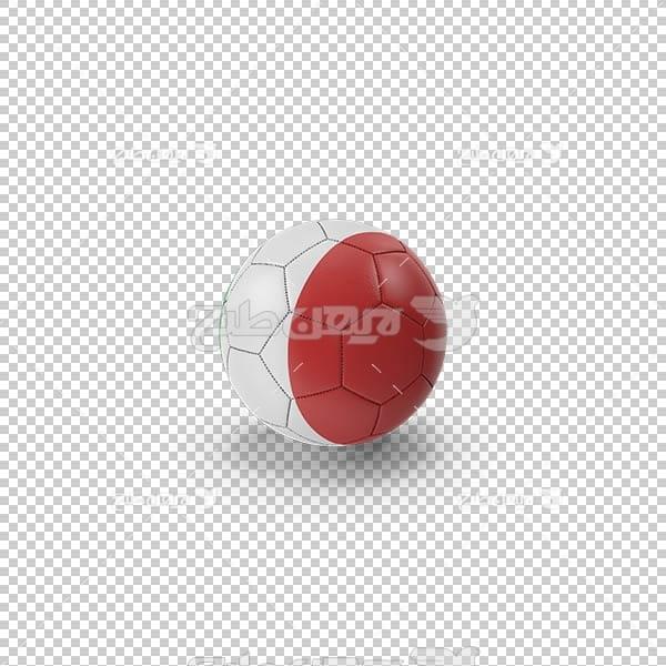 تصویر سه بعدی دوربری توپ سفید و قرمز