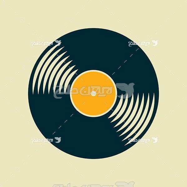 وکتور صفحه موسیقی گرامافون