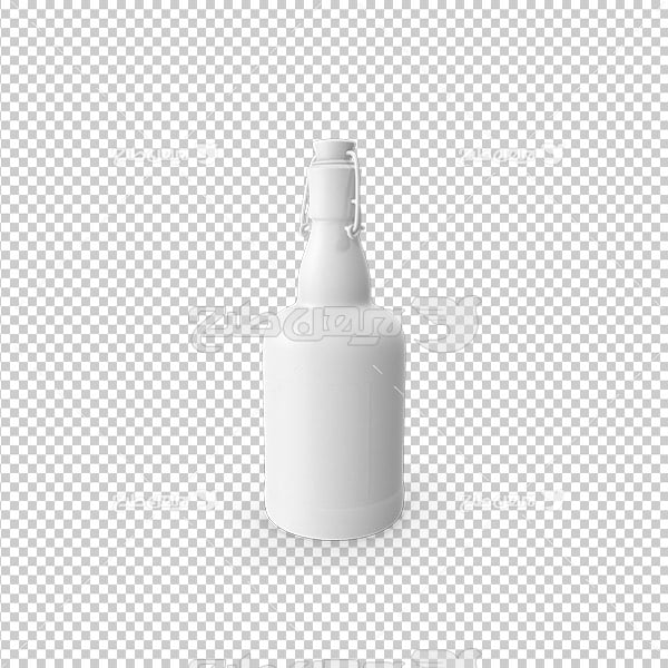 تصویر دوربری سه بعدی بطری نوشیدنی