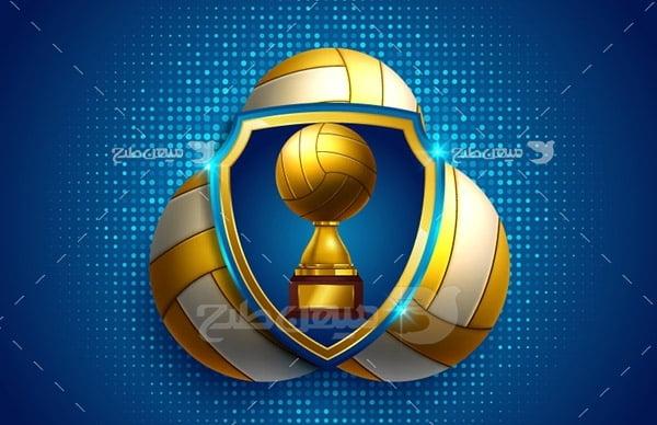 وکتور ورزشی جام والیبال