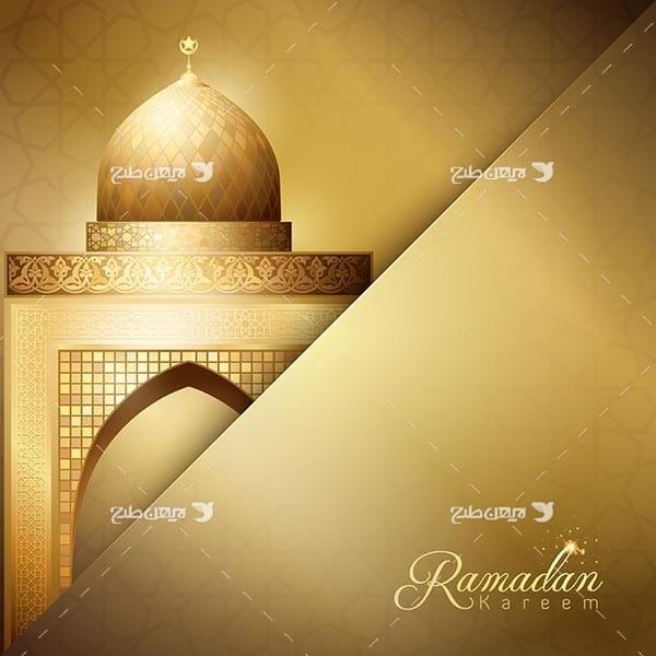 طرح وکتور بک گراند رمضان