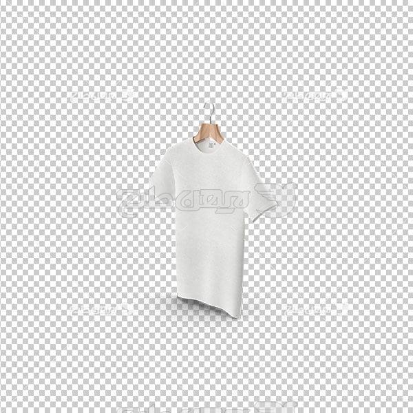 تصویر دوربری تی شرت سفید