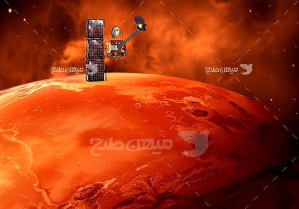 عکس  سیاره مریخ و فضاپیما