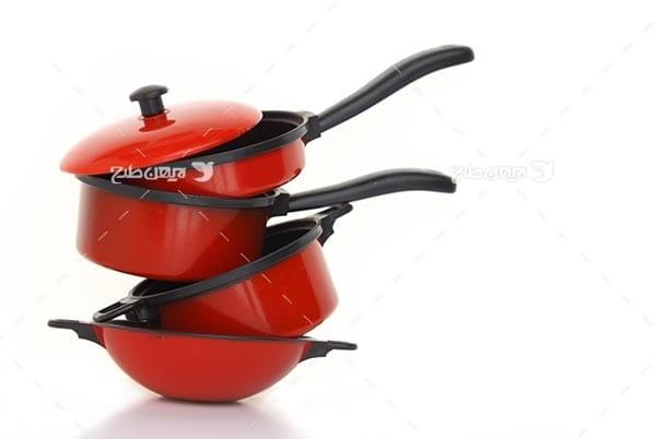 تصویر ظروف آشپزی و آشپزخانه، ماهیتابه و قابلمه