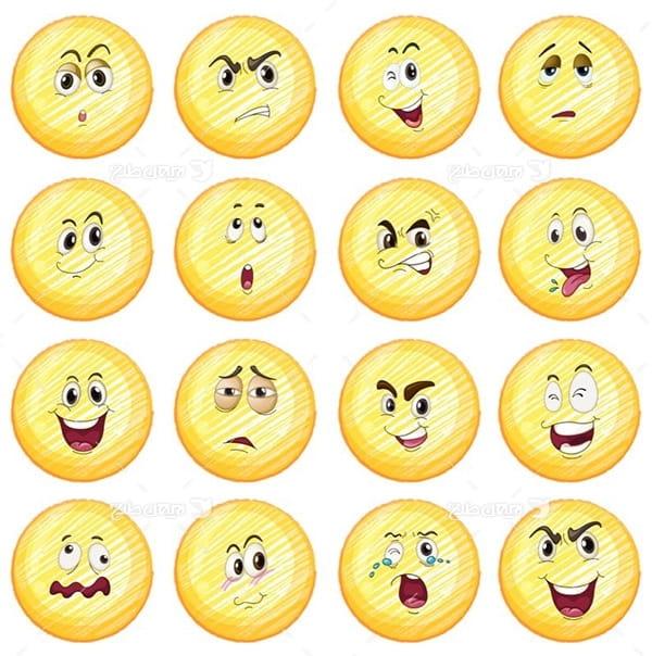 طرح وکتور کارکتر اموجی emoji