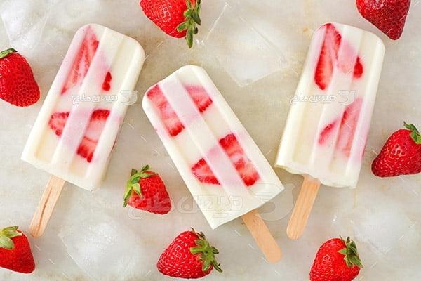 عکس بستنی میوه ای