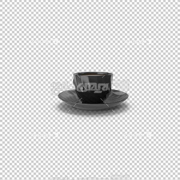 تصویر سه بعدی دوربری فنجان مشکی