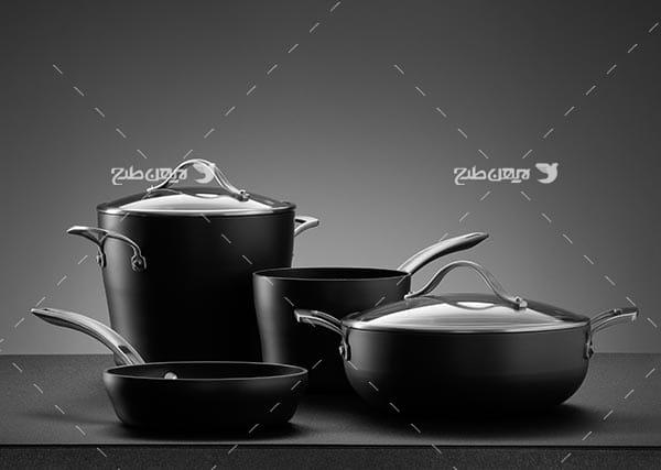 تصویر ظروف آشپزی و آشپزخانه