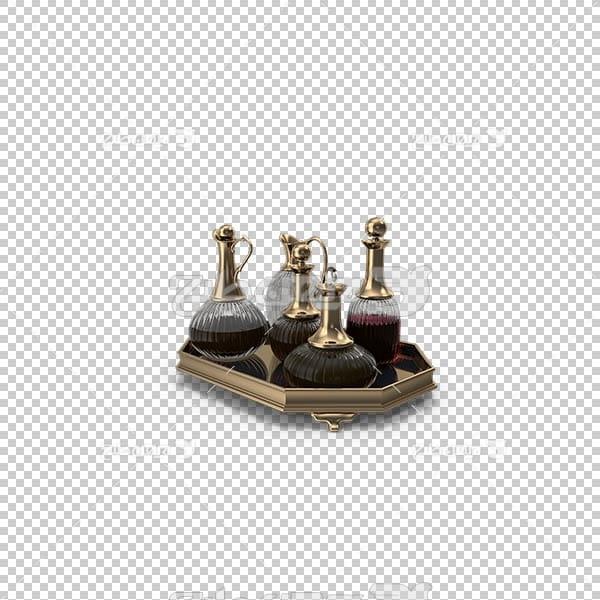تصویر سه بعدی دوربری دکستر طلایی با نوشیدنی
