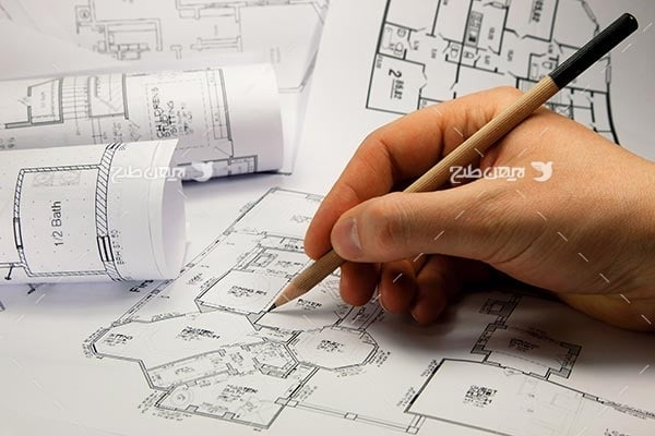 تصویر طراحی نقشه و نقشه کشی