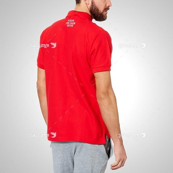 موکاپ تی شرت مردانه برای لوگو