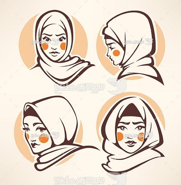 وکتور روسری و حجاب
