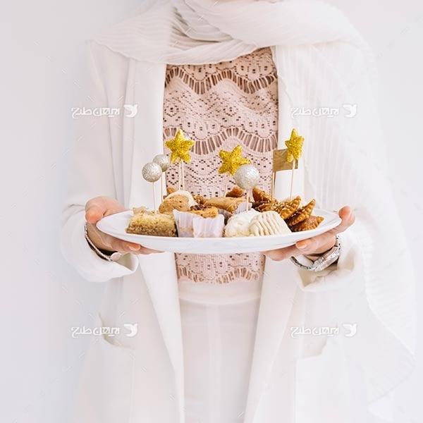 تصویر با کیفیت از افطاری و زن