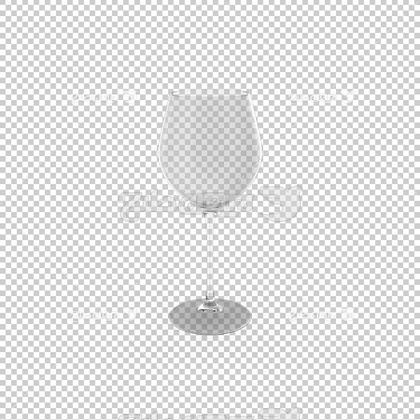 تصویر سه بعدی دوربری لیوان پایه دار بلوری