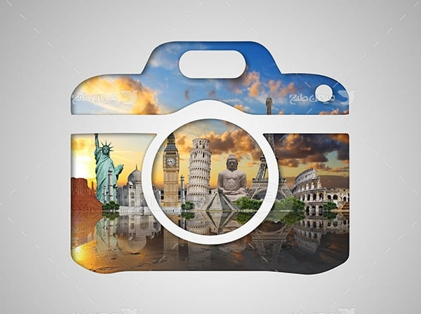 عکس آیکون مکان های گردشگری جهان