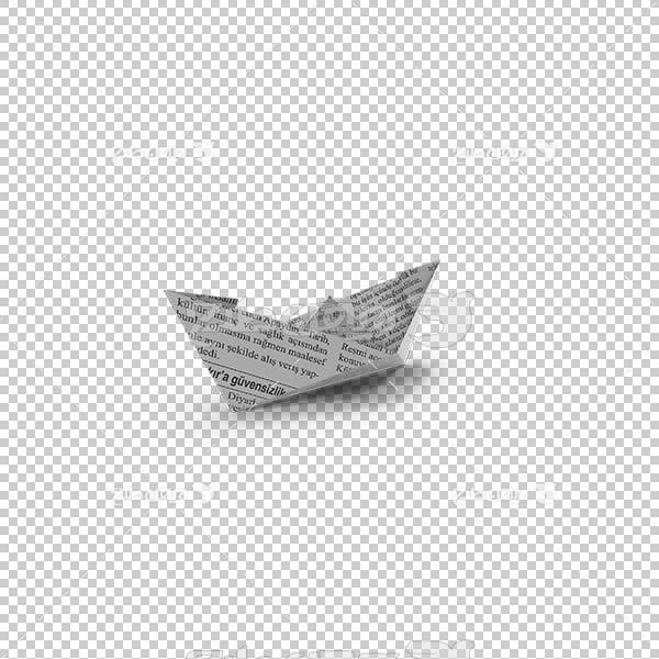 تصویر سه بعدی دوربری قایق کاغذی
