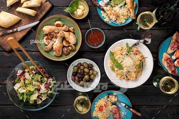 تصویر با کیفیت از غذا