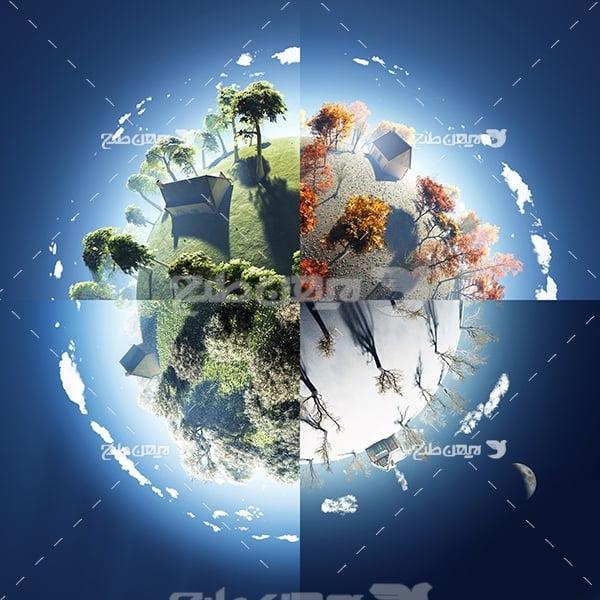 عکس 4 فصل در کره زمین