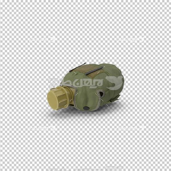 تصویر دوربری سه بعدی نوشیدنی قمقمه سرباز