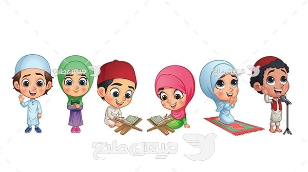 وکتور پسر و دختر مسلمان