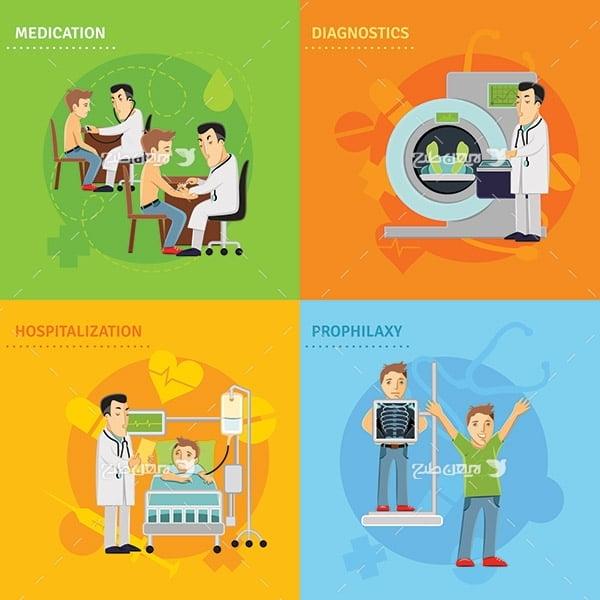طرح وکتور گرافیکی سلامت و بهداشت