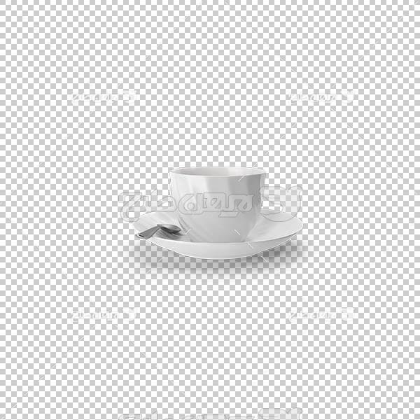 تصویر سه بعدی دوربری فنجان سفید