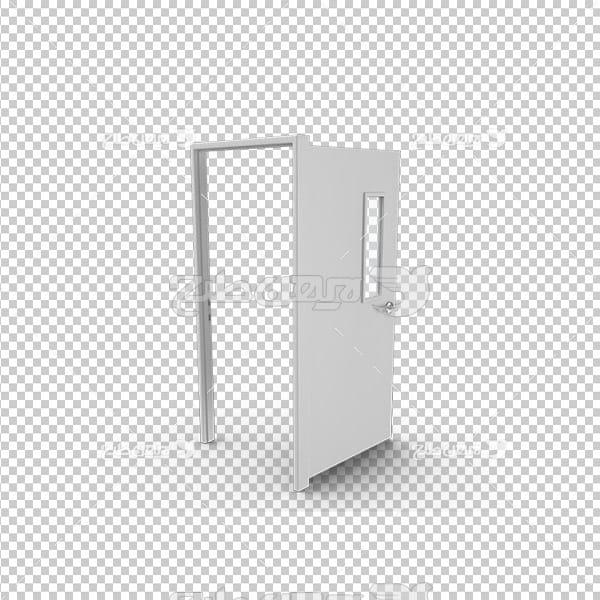 تصویردوربری سه بعدی درب اتاق