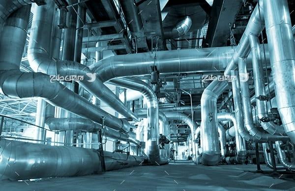 تصویر صنعتی از کارخانه پتروشیمی و پالایشگاه