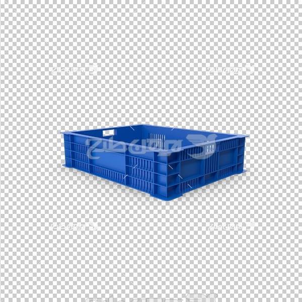 تصویر دوربری سه بعدی جعبه پلاستیکی