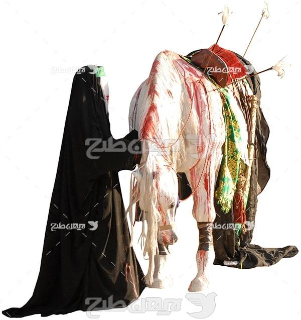 عکس اسب خونین امام در تعزیه