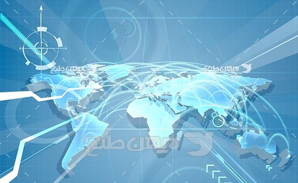 وکتور نقشه قاره ها