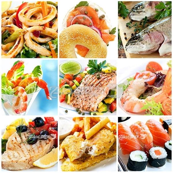 عکس مواد غذایی دریایی