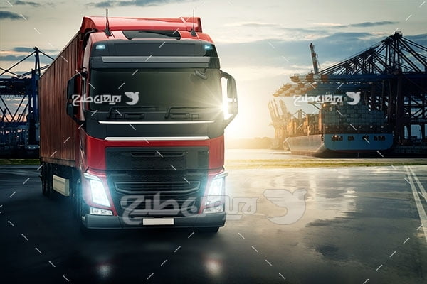 تصویر کامیون و گمرک