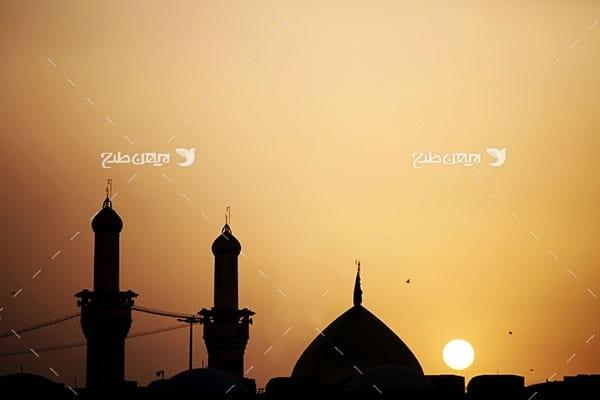 تصویر با کیفیت از ضد نور از گنبد امام حسین علیه السلام