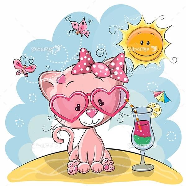 طرح وکتور حيوانات- گربه