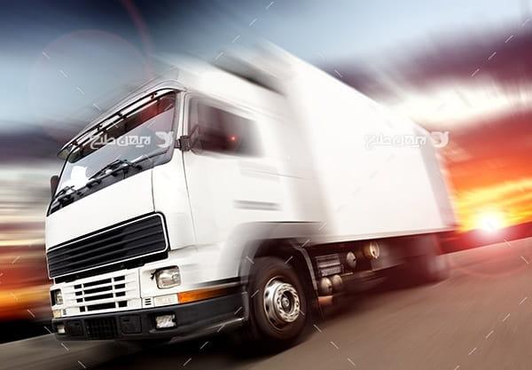تصویر صنعتی کامیون حمل و نقل